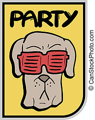 Glasses dog party - Creative design of glasses dog party