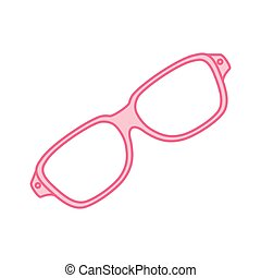 glasses fashion isolated icon
