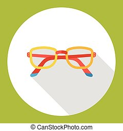 glasses flat icon