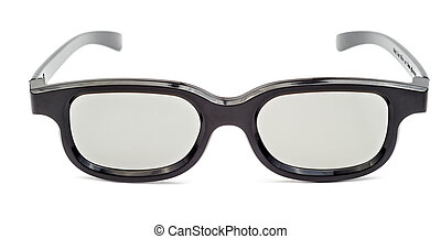 Glasses for cinema front view isolated