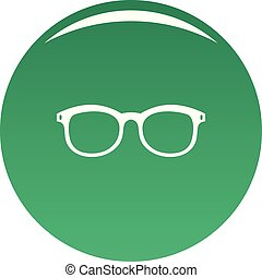 Glasses for myopic icon vector green