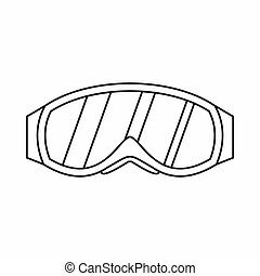 Glasses for snowboarding icon, outline style