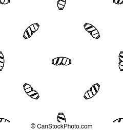 Glasses for snowboarding pattern seamless black