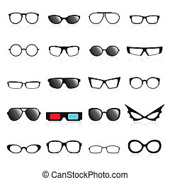 Glasses frame icons. Vector illustration