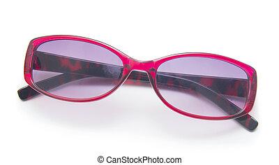 glasses., fundo, isolado, branca