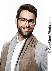 Glasses guy in scarf