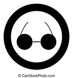 Glasses icon black color in circle