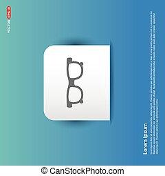 glasses icon - Blue Sticker button