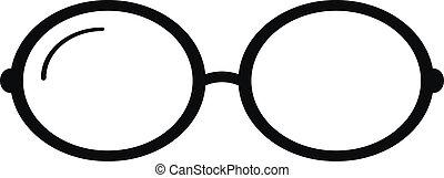Glasses icon on white background. Vector illustration.