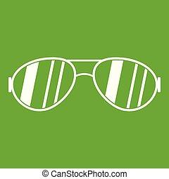 Glasses icon green
