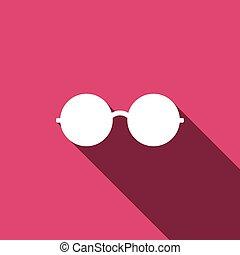 Glasses Icon. Vector illustration. Elements for design
