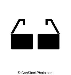 glasses  icon, vector illustration, sign on isolated background