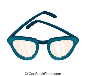 Glasses in a blue frame. Vector illustration on a white background.