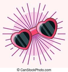 81e9e4db016c Summer fashion set.woman colored vacation wear in heart. Fashion ...