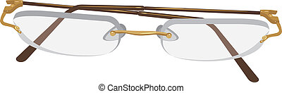 Glasses isolated on the white