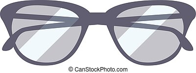 Glasses isolated on white background.