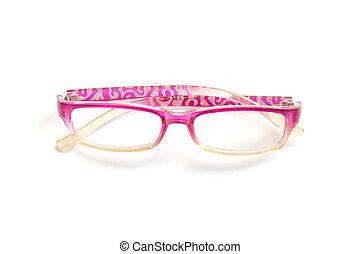 Glasses isolated on white background