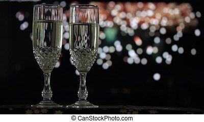 Glasses of champagne o