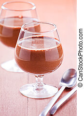 Glasses Of Chocolate Mousse