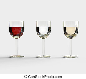 Glasses Of Excellent Wine