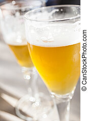 Glasses of Lager Beer