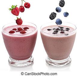 Raspberry And Blackberry Smoothie