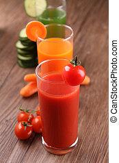 vegetable juice - glasses of vegetable juice, cocktail