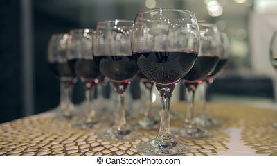 Glasses of Wine on The Table