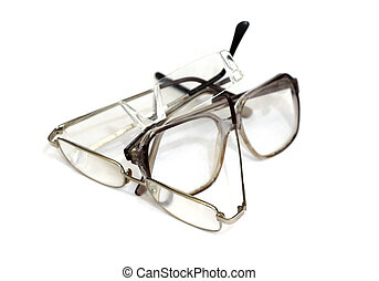 glasses on a white background.