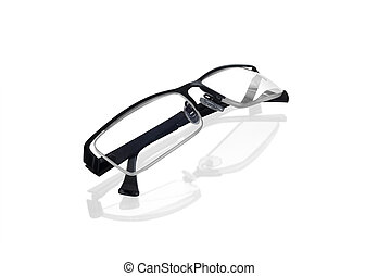 glasses on isolated white