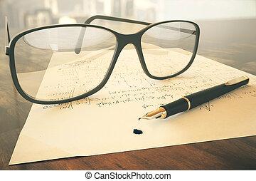 Glasses on mathematical formulas