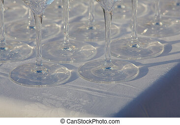 Glasses on the table