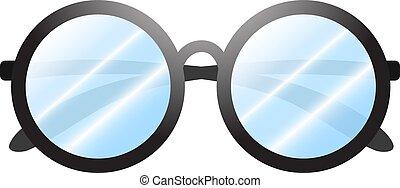 Glasses on White. Vector Illustration