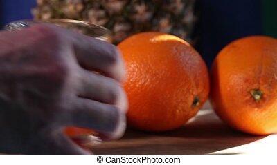 Glasses orange juice - Glasses with  orange juice and straws