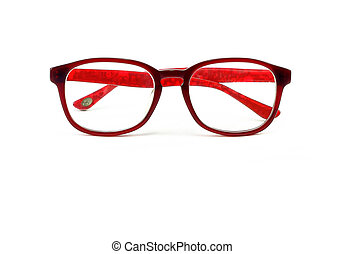 Glasses red isolated on white background