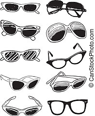 Glasses - Scalable vectorial image representing various ...