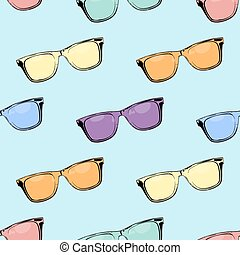 Glasses. Seamless pattern