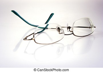 Glasses - Close up of glasses with white background.