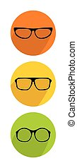 Glasses vector icon set isolated