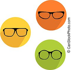 Glasses vector icon set isolated on white background