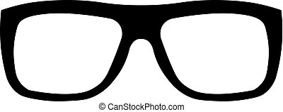 Glasses vector icon. Simple isolated symbol black pictogram on white background.