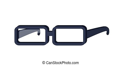 Glasses Vector Illustration in Flat Design.