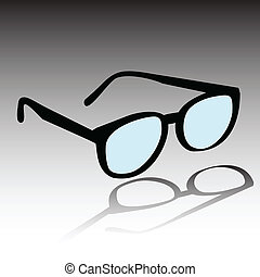 glasses vector silhouettes