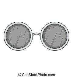 Glasses with black round lenses icon