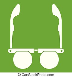 Glasses with black round lenses icon green