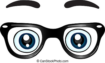 Glasses with eyes icon isolated vector illustration