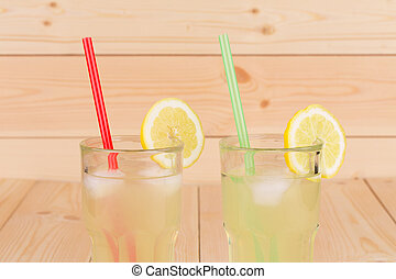 Glasses with lemonade