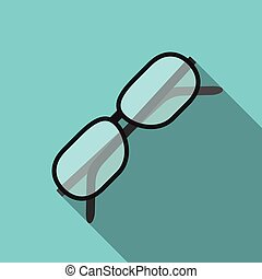 Glasses with long shadow