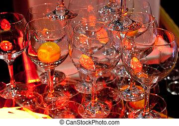 Glasses with orange