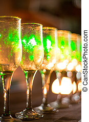 Glasses with wine on dark background